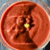 Rote Beete Suppe mit Wasabi