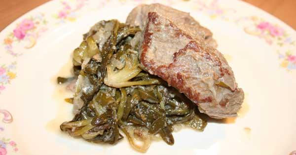 frikassee1 Rindfleisch Frikassee mit Stamnagathi