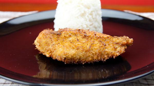 Kokosschnitzel 1 Kokos Schnitzel vom Huhn