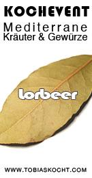 Lorbeer BannerM Kochevent  Mediterrane Kräuter und Gewürze   Lorbeer