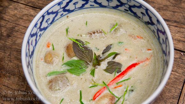 Grünes Curry mit Huhn 1 Grünes Curry mit Huhn