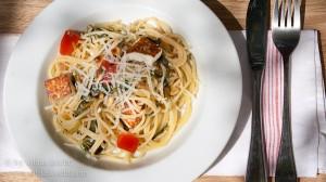 Spaghetti mit Vleeta und gebratenem manouri