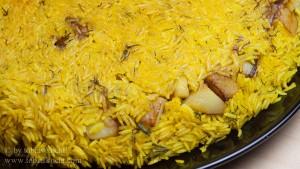 Persischer Reis Sib Pulao