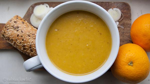 2012 10 Kürbis Lauchsuppe Kürbis Lauch Orangen Suppe